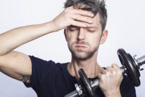 Nachteil: Sport baut Druck auf