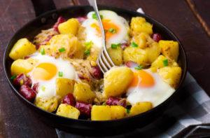 Die biologische Wertigkeit bei Kombinationen - Kartoffeln und Vollei