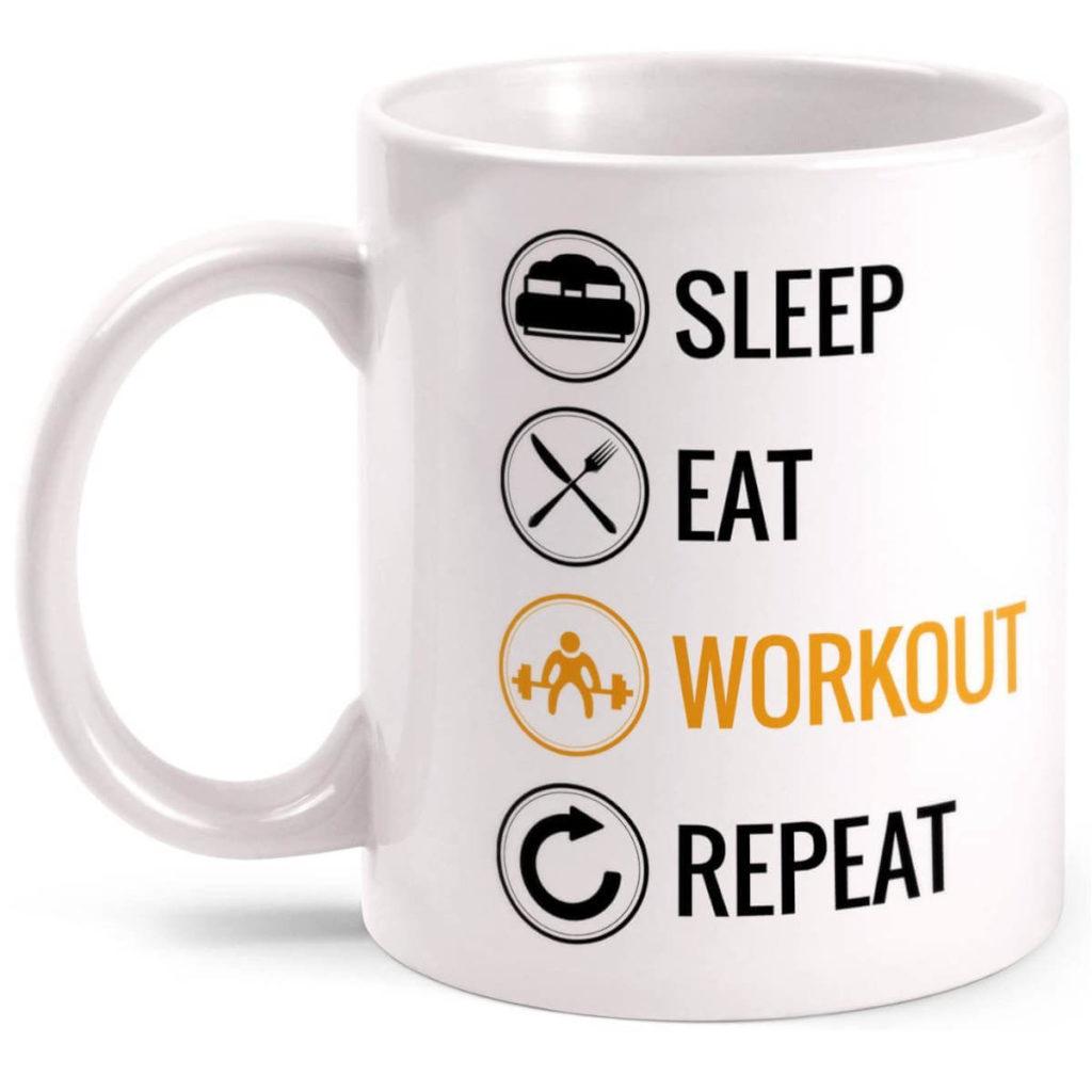 Fitness Geschenk witzige Tasse